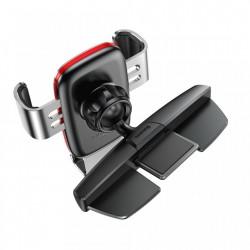 Suport auto cu rotire 360 pentru telefon cu prindere in fanta pentru CD , Baseus Metal Age Gravity , gri