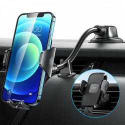 Suport auto pentru telefon , prindere pe bord brat lung, Joyroom negru (JR-ZS258)