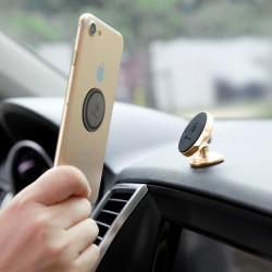 Suport Auto Premium cu banda autoadeziva , Baseus Small Ears , Magnetic , Silver