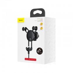 Suport auto, prindere ventilatie , Baseus YY cu cablu incarcare Type-C , negru