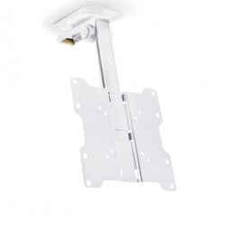 Suport TV tavan Multibrackets 0346 M VESA Flip 90 grade, 15''-37''(32-93cm), max. 20 kg, pivotare +/- 45°, alb