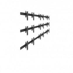 Suport VideoWall de perete 3x3 Push In Pop Out Multibrackets