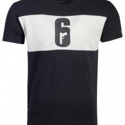 Tricou 6-SIEGE cu logo inscriptionat - marimea L
