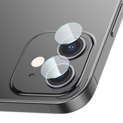 2 x Folie din sticla securizata pentru camera, Baseus pentru iPhone 12 / iPhone 12 mini transparent (SGAPIPH54N-JT02)