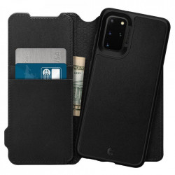 Husa Spigen tip carte/portofel Ciel Brick Samsung Galaxy S20 Plus - negru