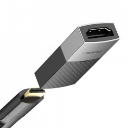 Adaptor Baseus HDMI la HDMI, 4K/60Hz - negru