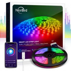 Banda LED smart compatibila cu sistemele Amazon Alexa si Google Assistant, Gosund Nitebird SL2 (5m)