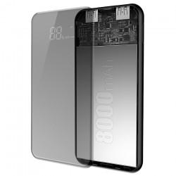 Baterie externa/Power bank cu incarcare Wireless si stand telefon , Baseus Bracket 8000 mAh , negru