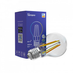 Bec inteligent LED Sonoff B02-F-A60 vintage, Wi-Fi, 7W, 806 LM, Dimmer, Control aplicatie