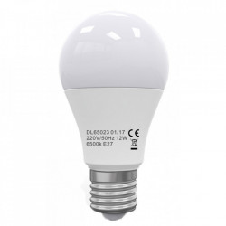 Bec Led E27, model glob A60, 12W=100W, 6400K, lumina rece, ore functionare 15.000