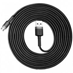 Cablu de date , Baseus Cafule USB / micro USB 2A 3M black-gray (CAMKLF-HG1)