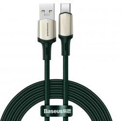 Cablu de date Baseus USB la Type-C, VOOC, incarcare rapida, 5A - 2m, verde
