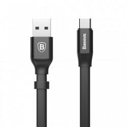 Cablu pentru incarcare , Baseus Nimble Flat, USB-USB-C, 0.23 M, 2A, negru