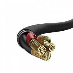 Cablu pentru incarcare Lightning, Baseus Yiven, USB C -Lightning, 2 m,Negru