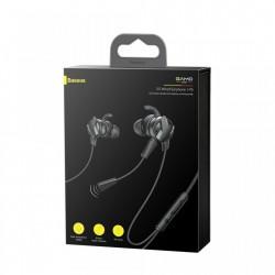 Casti audio In Ear cu microfon 10 cm, Baseus Gamo H15 , negru