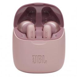 Casti audio in-ear JBL TUNE 225TWS, Bluetooth, Asistent vocal, Microfon, Pure Bass, True Wireless, Roz