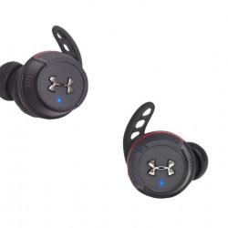 Casti sport In-Ear Under Armour Flash X, True Wireless, Storm Proof IPX7, Bionic Hearing, Bluetooth Wireless, Negru