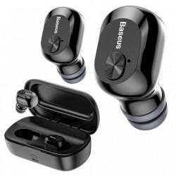 Casti wireless waterproof cu doc incarcare, Baseus Encok W01 , bluetooth 5.0 , negre NGW01-01