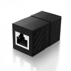 Conector cablu de retea Ugreen Ethernet RJ45 10 Gbps negru (NW114 20390)