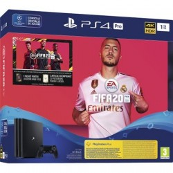 Consola Sony PlayStation 4 PRO 1TB + joc FIFA20 + Voucher FUTpoints + Voucher PlayStation Plus 14 zile