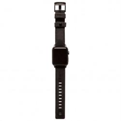 Curea piele UAG Leather Strap - Apple Watch 44/42 mm, black