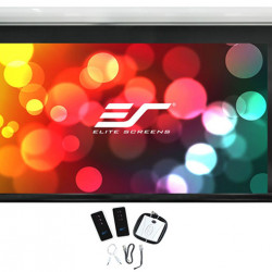 Ecran proiectie electric, perete/tavan, 323 x 201 cm, EliteScreens Saker SK150NXW2-E6, 2xRC, Format 16:10, trigger 12V