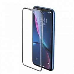 Folie iPhone 11 / iPhone XR , Sticla Securizata 3D, Full Screen, Protectie Praf Difuzor, Baseus, Negru SGAPIPH61-WA01