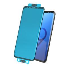 Folie protectie 3D Edge Nano Flexi Glass complet hibrid cu cadru pentru Samsung Galaxy S20 Plus negru (senzor de amprentă pe ecran)