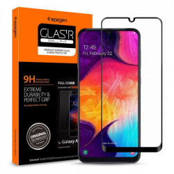 Folie protectie Spigen sticla Samsung Galaxy A40 - negru