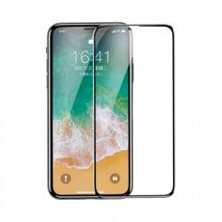Folie sticla, Baseus PET Soft, pentru iPhone XS / X, margini PET flexibile colorate, neagra