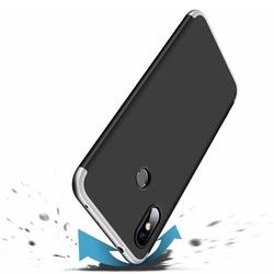 Husa 360° Matte Full Protection Gema Mixt pentru Xiaomi Redmi Note 6 Pro (fata + spate ) , negru-gri