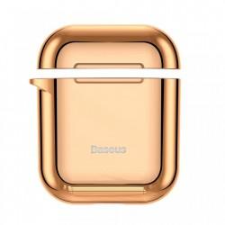 Husa protectoare din gel silica , Baseus pentru Apple Airpods , auriu