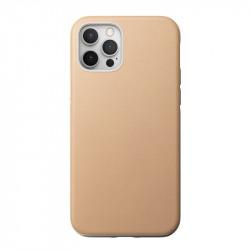 Husa telefon din piele naturala Nomad MagSafe Rugged, natural- iPhone 12/12 Pro