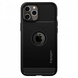 Husa telefon Spigen Rugged Armor pentru Iphone 12 Pro Max Matte Black