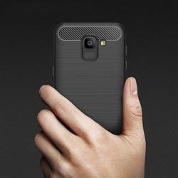 Husa telefon TPU model carbon , Gema Mixt pentru Samsung Galaxy J6 2018 J600 , albastru