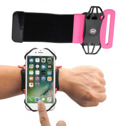"Husa universala de telefon pentru antebrat 6"" - roz"