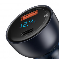 Incarcator auto Baseus cu afisaj Digital QC+PPS Dual Quick Charger 65W gri