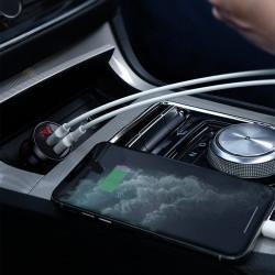 Incarcator auto Dual USB , Baseus 24W gri (CCBX-0G)