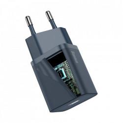 Incarcator Baseus Super Si Quick Charger 1C 20W cu cablu USB-C la Lightning 1m (blue)