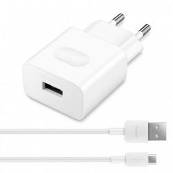 Incarcator Huawei AP32 QuickCharge + cablu micro usb 9V/5V 2A 1M alb