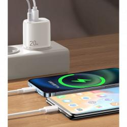 Incarcator priza Joyroom USB Type C / USB 20 W 3 A Power Delivery Quick Charge 3.0 white (ZQ-LG3028E3)