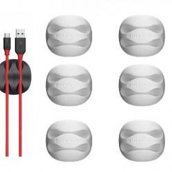 Mini organizator de cablu BlitzWolf BW-PM1 (2 sloturi) alb (6 bucăți)