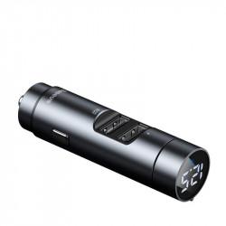 Modulator FM bluetooth si incarcator MP3 fără fir Baseus Energy Column Car (Wireless 5.0 + 5V / 3.1A) Gri închis