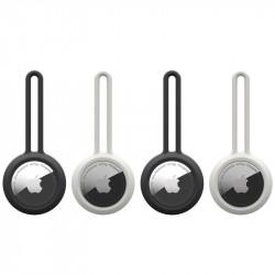 Pachet 4 x huse Airtag U by UAG Dot Loop black / white - Apple AirTag