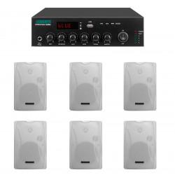 Pachet Sonorizare 120W de perete, FM+USB+Bluetooth, DSPPA MP120UB+6xDSP8062