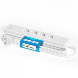 Prelungitor Meross Smart Wi-Fi 4 prize + 4 porturi USB cu Apple HomeKit