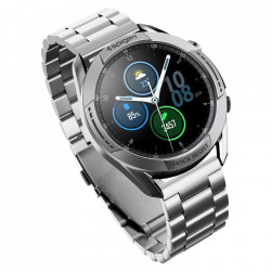 Protectie din aluminiu Spigen Chrono Shield silver pentru Samsung Galaxy Watch 3 45mm negru