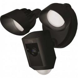 RING Floodlight Cam, Camera impotriva inundatiilor, Senzori De Miscare, Sunet Bidirectional, Alarma, Vedere Nocturna, Video HD 1080p, Negru