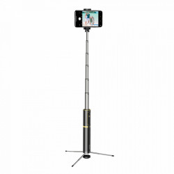 Selfie Stick + Tripod , stand telescopic, Baseus Bluetooth gold (SUDYZP-D1V)