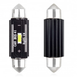 Set 2 x LED CANBUS 1 SMD UltraBright 1860 Festoon 41mm White 12V/24V